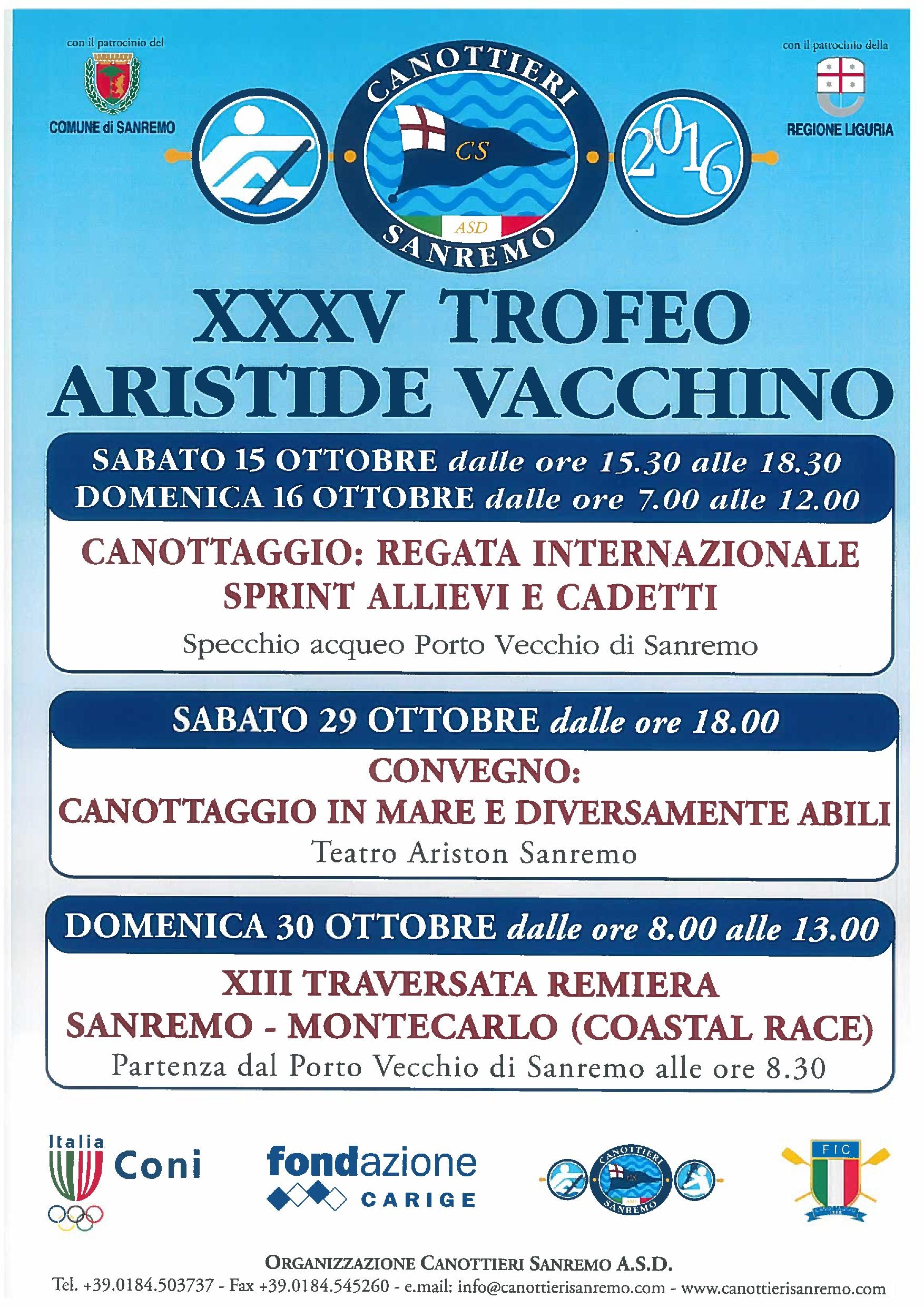 XXXV Trofeo Aristide Vacchino 2016